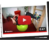 Gymnastické míče inSPORTline a použití s žebřinami - YouTube
