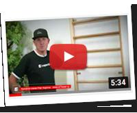 Využití žebřin pro domácí cvičení s pomůckami - YouTube