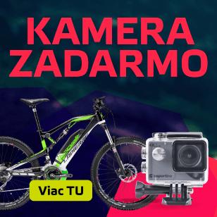 K bicyklu alebo elektrokolobežke 4K outdoorová kamera zadarmo!