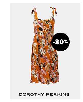 Oranžové kvetované šaty na ramienka Dorothy Perkins Petite | ZOOT.sk