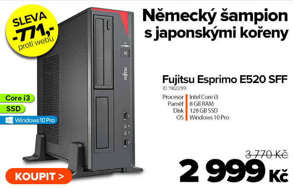 Fujitsu Esprimo E520 SFF za 3770Kč | GIGACOMPUTER.CZ