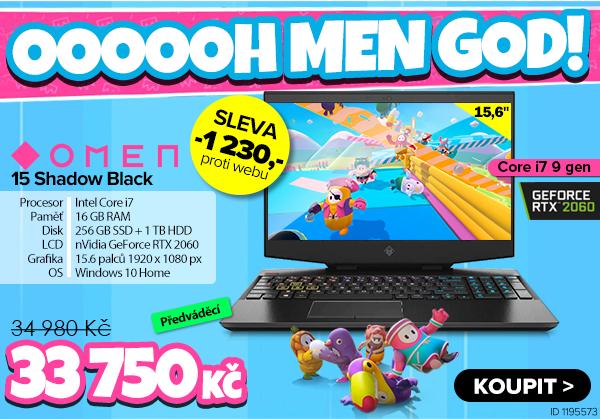 HP OMEN 15-dh0000nx Shadow Black za 34980Kč | GIGACOMPUTER.CZ