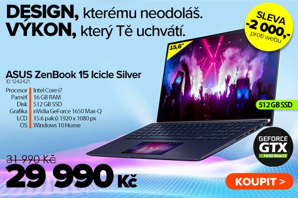 ASUS ZenBook 15UX534FTC Icicle Silver za 31990Kč - Notebook   GIGACOMPUTER.CZ