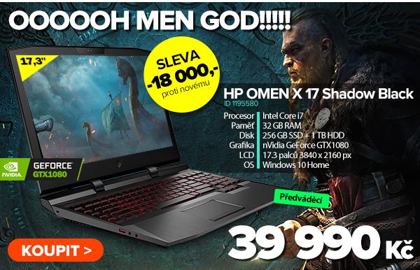 HP OMEN X 17-ap003ne Shadow Black za 39990Kč - Notebook   GIGACOMPUTER.CZ