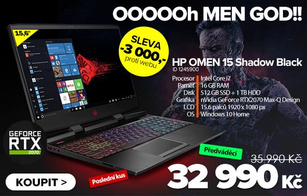 HP OMEN 15-dc1016nu Shadow Black za 35990Kč - Notebook   GIGACOMPUTER.CZ