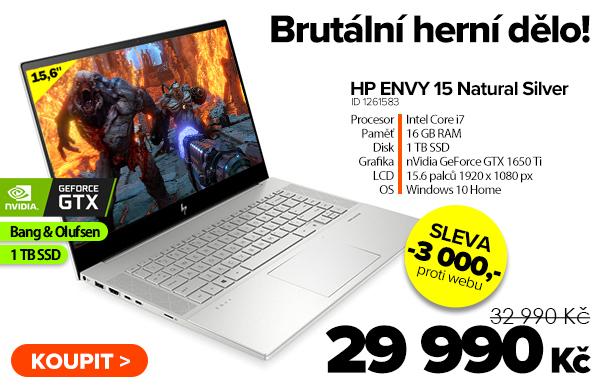 HP ENVY 15-ep0002nl Natural Silver za 32990Kč - Notebook | GIGACOMPUTER.CZ