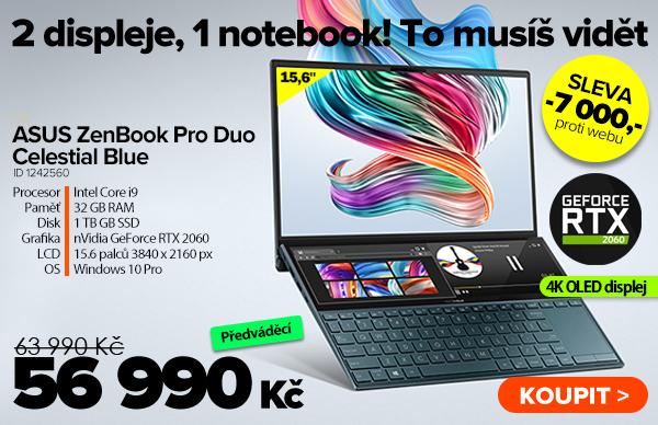 ASUS ZenBook Pro Duo UX581GV Celestial Blue za 63990Kč - Notebook   GIGACOMPUTER.CZ
