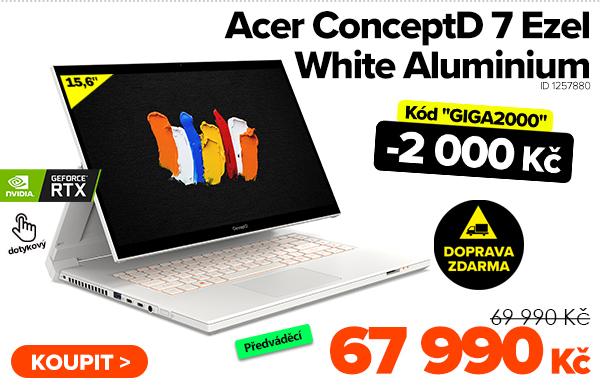 Acer ConceptD 7Ezel White Aluminium za 69990Kč - Notebook | GIGACOMPUTER.CZ