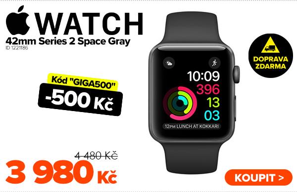 Apple Watch 42mm Series 2Space Gray - L za 4480Kč - Chytré příslušenství | GIGACOMPUTER.CZ