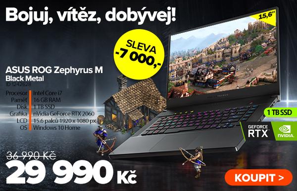 ASUS ROG Zephyrus M GU502GV Black Metal za 29990Kč - Notebook | GIGACOMPUTER.CZ