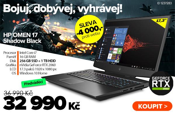 HP OMEN 17-cb0022no Shadow Black za 36990Kč - Notebook   GIGACOMPUTER.CZ