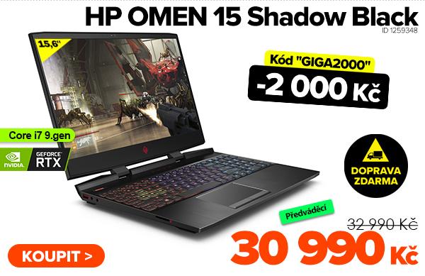 HP OMEN 15-dh0009ne Shadow Black za 32990Kč - Notebook | GIGACOMPUTER.CZ