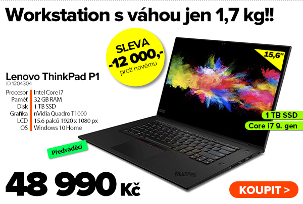 Lenovo ThinkPad P1 (2nd Gen) za 48990Kč - Notebook   GIGACOMPUTER.CZ