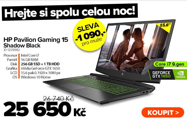HP Pavilion Gaming 15-dk0047nl Shadow Black za 26740Kč - Notebook | GIGACOMPUTER.CZ